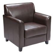 Offex Hercules Diplomat Series Reception Chair; Brown
