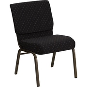 Offex Hercules Series Stacking Church Chair; Black Dot