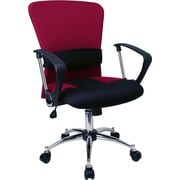Offex Mid-Back Mesh Desk Chair; Burgundy