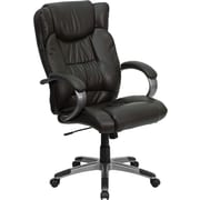 Offex High-Back Leather Executive Chair; Espresso Brown