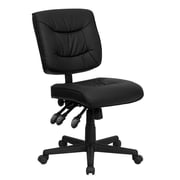 Offex Mid-Back Leather Desk Chair; Not Included