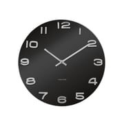 Present Time Vintage 14'' Black Glass Wall Clock