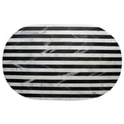 Thirstystone Old Hollywood Striped Marble Serving Tray