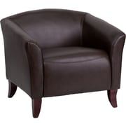 Offex Hercules Imperial Series Leather Reception Chair; Brown