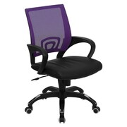 Offex Mid-Back Mesh Desk Chair; Purple