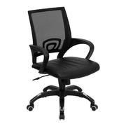 Offex Mid-Back Mesh Desk Chair; Black