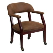 Offex Mid-Back Leather Conference Chair; Brown