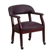 Offex Mid-Back Leather Conference Chair; Burgundy