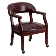 Offex Mid-Back Leather Conference Chair; Oxblood Vinyl