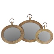 Urban Trends 3 Piece Metal Oval Wall Mirror Set