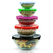 Imperial Home 10 Piece Glass Lunch Bowl Food Storage Container