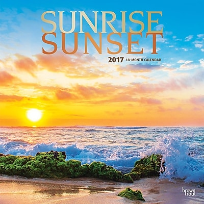2017 Sunrise Sunset 12x12 Calendar (9781465092540) 2472560