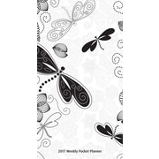 2017 Ebony and Ivory Paisley Butterflies 7x8 Pocket Planner (9781465092670)