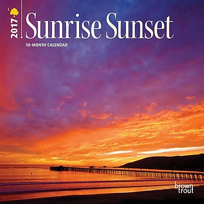 2017 Sunrise Sunset 7x7 Calendar (9781465092052) 2472581
