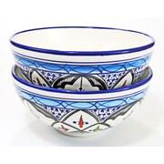 Le Souk Ceramique Tibarine Stoneware Serving Bowl (Set of 2)