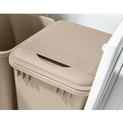 Rev-A-Shelf 8.75-Gal. Waste Container Lid; Champagne
