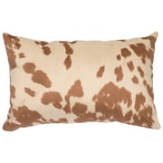 Wooded River Faux Hair on Hide Lumbar Pillow; Udder Cream