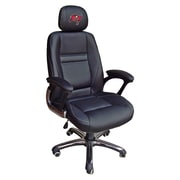 Tailgate Toss NFL 39'' H Leather Office Chair w/ Single Lever Seat Height Control