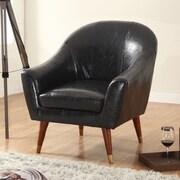 Madison Home USA Mid Century Modern Barrel Arm Chair; Black