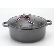 Chasseur Round Dutch Oven w/ Lid; 7'' H x 10.75'' W x 13.5'' D