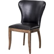 Laurel Foundry Modern Farmhouse Caledon Side Chair; Old Saddle Black / Weathered Oak