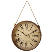 Laurel Foundry Modern Farmhouse 19'' Rusted Roman Numeral Clock