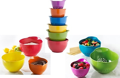 Trudeau Corporation 6 Piece Melamine Stackable Mixing