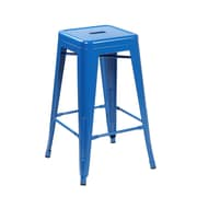 United Chair Industries LLC 26.4'' Bar Stool (Set of 2); Bright Deep Blue