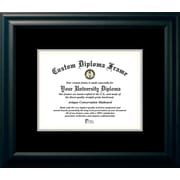 Campus Images Satin Mats Picture Frame; Black/Silver