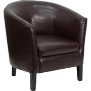 Offex Leather Guest Chair; Brown