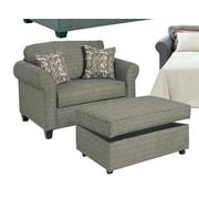 Serta Upholstery Cuddler Chair; Burbank Dusk / Dana Point One