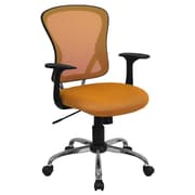 Offex Mid-Back Mesh Desk Chair; Orange