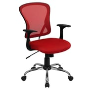 Offex Mid-Back Mesh Desk Chair; Red