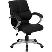 Offex Mid-Back Leather Desk Chair