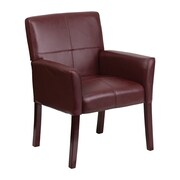 Offex Executive Leather Reception Chair; Burgundy
