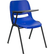 Offex 17.4'' Plastic Tablet Arm Chair; Blue