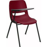 Offex 17.4'' Plastic Tablet Arm Chair; Burgundy