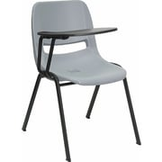 Offex 17.4'' Plastic Tablet Arm Chair; Gray