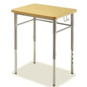 Alumni Manufactured Wood Adjustable Height Collaborative Desk (Set of 2) (Set of 2); Maple