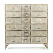 Zentique Inc. 18-Drawer Cabinet