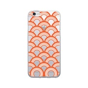 OTM Prints Clear Phone Case, Waves Orange - iPhone 6/6S Plus