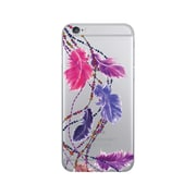 OTM Prints Clear Phone Case, Dancing Feathers Purple - iPhone 6/6S Plus