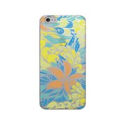 OTM Prints Clear Phone Case, Tahitian Blue/Yellow - iPhone 6 Plus