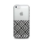 OTM Prints Clear Phone Case, Black on Clear Half Arrows - iPhone 6 Plus