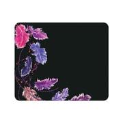 OTM Prints Black Mouse Pad, Dancing Feathers Purple