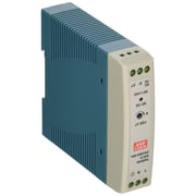 B+B Smartworx® Mean Well MDR Industrial Slimline Proprietary Power Supply, 24 W, White/Blue (MDR-20-24)