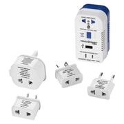 Conair® Travel Smart® 2 Outlet 1875 W Converter Set with USB Port and 4 Adapter Plugs, White/Blue (TS703CRN)