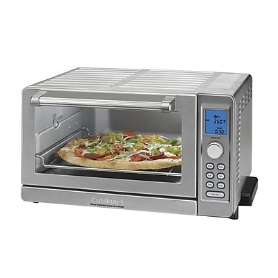 Cuisinart Deluxe 0.6 cu. ft. Convection Toaster Oven Broiler, Stainless Steel (TOB-135N) IM14T8516