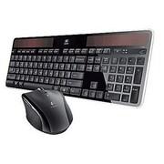 Logitech® Wireless Solar Keyboard and Laser Marathon Mouse Combo, Black (MK750)