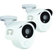 Night Owl CAM-2PK-PIR10W Wired Bullet Surveillance Camera, White